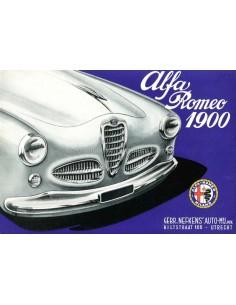 1954 ALFA ROMEO 1900 PROSPEKT NIEDERLÄNDISCH