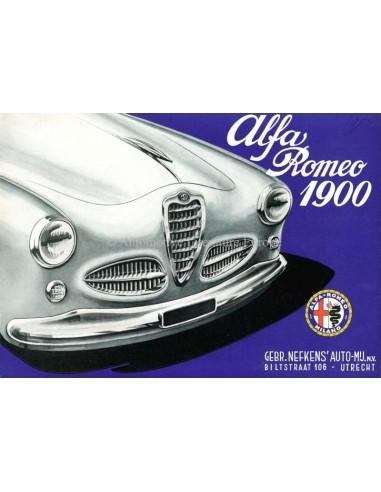 1954 ALFA ROMEO 1900 BROCHURE DUTCH