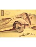 1935 FIAT ARDITA & ARIDTA SPORT 2500 BROCHURE FRENCH