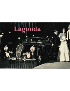 1955 LAGONDA 3-LITRE SALOONS & DROP-HEAD COUPE PROSPEKT ENGLISCH