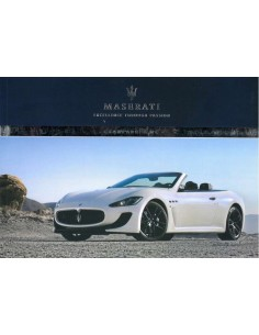2013 MASERATI GRANCABRIO MC OWNERS MANUAL ENGLISH