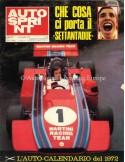 1972 AUTOSPRINT MAGAZINE 1 ITALIAN