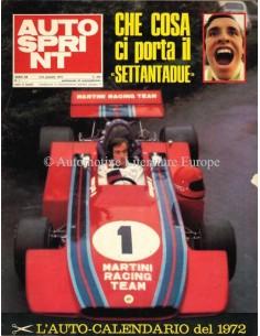1972 AUTOSPRINT MAGAZINE 1 ITALIAANS