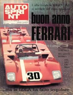 1972 AUTOSPRINT MAGAZIN 2 ITALIENISCH
