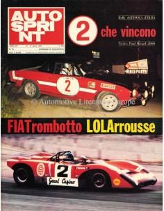 1972 AUTOSPRINT MAGAZIN 15 ITALIENISCH