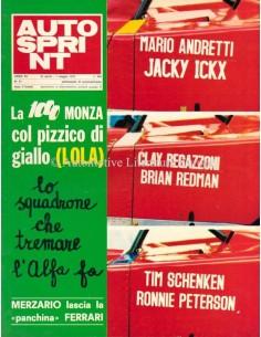 1972 AUTOSPRINT MAGAZIN 17 ITALIENISCH