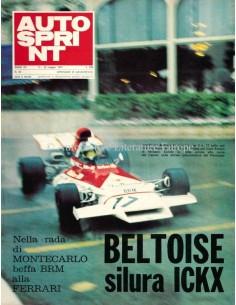 1972 AUTOSPRINT MAGAZIN 20 ITALIENISCH