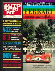 1972 AUTOSPRINT MAGAZIN 21 ITALIENISCH