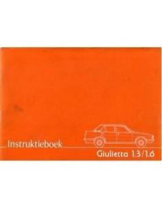 1978 ALFA ROMEO GIULIETTA INSTRUCTIEBOEKJE NEDERLANDS