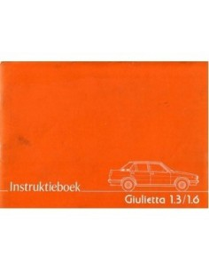1978 ALFA ROMEO GIULIETTA OWNERS MANUAL DUTCH