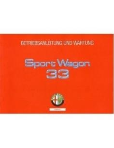 1991 ALFA ROMEO 33 + SPORTWAGON OWNERS MANUAL HANDBOOK GERMAN