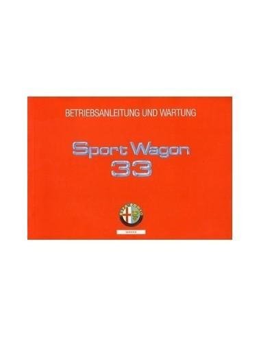 1991 ALFA ROMEO 33 + SPORTWAGON INSTRUCTIEBOEKJE DUITS