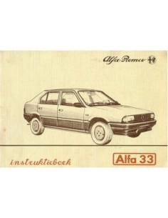1983 ALFA ROMEO 33 INSTRUCTIEBOEKJE NEDERLANDS