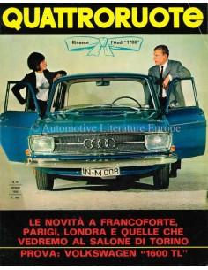 1965 QUATTRORUOTE MAGAZIN 10 ITALIENISCH