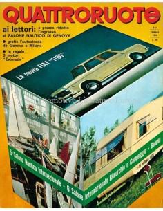 1966 QUATTRORUOTE MAGAZIN 2 ITALIENISCH
