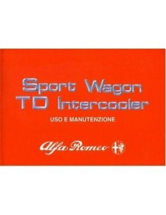 1989 ALFA ROMEO 33 SPORTWAGON TD OWNERS MANUAL HANDBOOK ITALIAN
