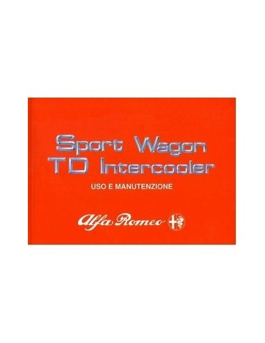 1989 ALFA ROMEO 33 SPORTWAGON TD INSTRUCTIEBOEKJE ITALIAANS