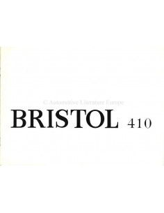 1968 BRISTOL 410 BROCHURE ENGLISH