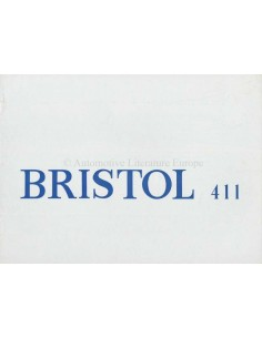 1970 BRISTOL 411 BROCHURE ENGLISH