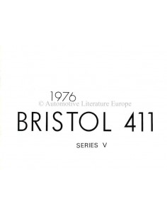 1976 BRISTOL 411 BROCHURE ENGLISH