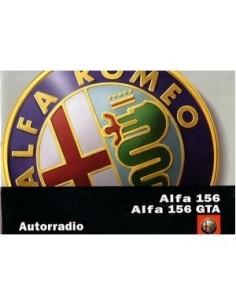 2002 ALFA ROMEO 156 GTA RADIO AUDIO BETRIEBSANLEITUNG NL