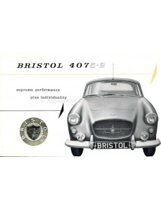 1961 BRISTOL 407 BROCHURE ENGLISH