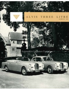1963 ALVIS THREE LITRE (TE21) PROSPEKT BROCHURE ENGELS