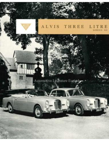 1963 ALVIS THREE LITRE (TE21) BROCHURE ENGLISH