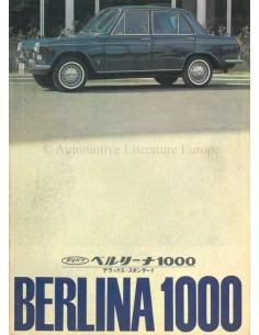 1965 DAIHATSU COMPAGNO BERLINA 1000 BROCHURE JAPANESE