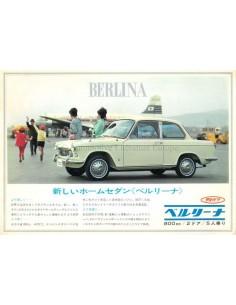 1967 DAIHATSU COMPAGNO BERLINA 800 LEAFLET JAPANS