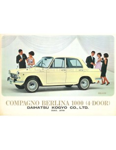 1967 DAIHATSU COMPAGNO BERLINA 800 BROCHURE ENGLISH / SPANISH