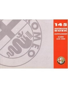 1995 ALFA ROMEO 145 ALARM ALFA CODE INSTRUCTIEBOEKJE NEDERLANDS