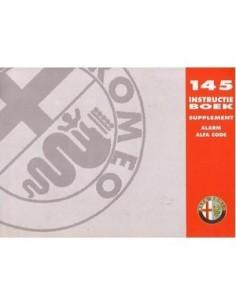 1995 ALFA ROMEO 145 ALARM ALFA CODE OWNERS MANUAL HANDBOOK DUTCH