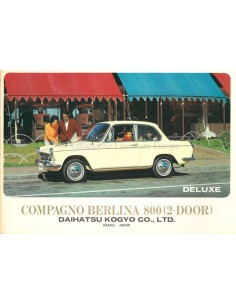 1965 DAIHATSU COMPAGNO BERLINA 1000 BROCHURE ENGLISH / SPANISH