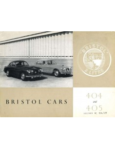 1955 BRISTOL 404 + 405 PROSPEKT ENGLISCH