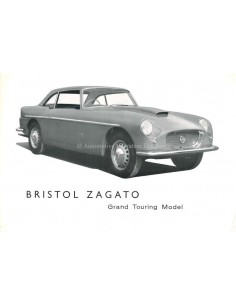 1959 BRISTOL ZAGATO GRAND TOURING LEAFLET ENGLISH