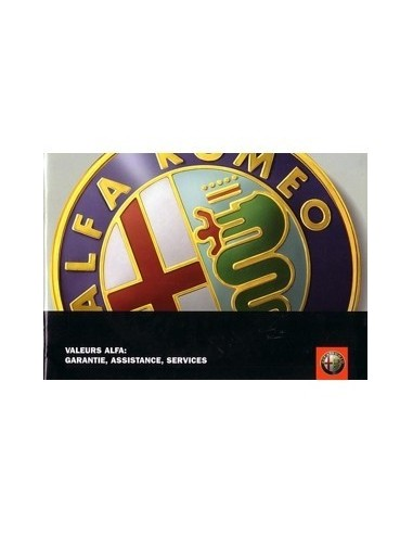 2003 ALFA ROMEO ONDERHOUDSBOEKJE FRANS