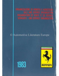 1983 FERRARI SALE & SERVICE ORGANIZATION MANUAL 266/83