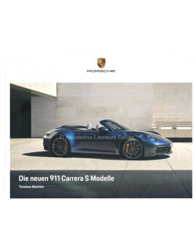 2020 PORSCHE 911 CARRERA S HARDBACK BROCHURE GERMAN