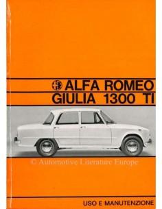 1967 ALFA ROMEO GIULIA 1300 BETRIEBSANLEITUNG ITALIENISCH