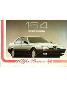 1988 ALFA ROMEO 164 OWNERS MANUAL ENGLISH