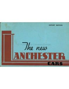 1938 LANCHESTER PROGRAMM PROSPEKT ENGLISCH