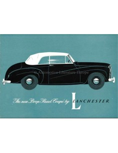 1952 LANCHESTER DROP HEAD COUPÉ BROCHURE FRENCH