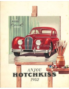 1952 HOTCHKISS ANJOU BROCHURE FRANS