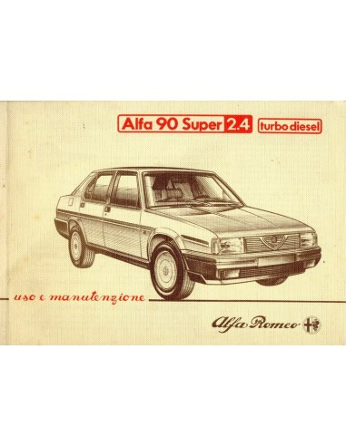 1986 ALFA ROMEO 90 2.4 TURBO DIESEL INSTRUCTIEBOEKJE ITALIAANS