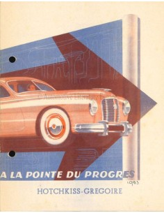 1951 HOTCHKISS GREGOIRE PROSPEKT FRANZÖSISCH