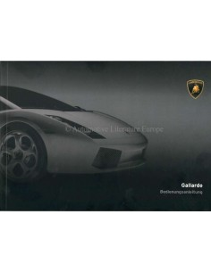 2006 LAMBORGHINI GALLARDO COUPE OWNER'S MANUAL GERMAN