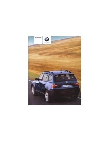 2005 BMW X3 INSTRUCTIEBOEKJE DUITS