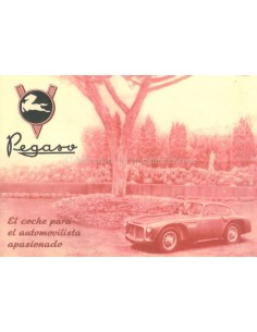 1953 PEGASO Z-102 B BS BROCHURE SPANISH