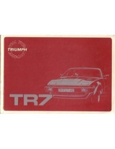 1981 TRIUMPH TR7 OWNERS MANUAL ENGLISH